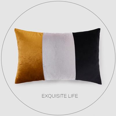 2019新款-轻奢抱枕含芯 长方形35*50/含芯 031#