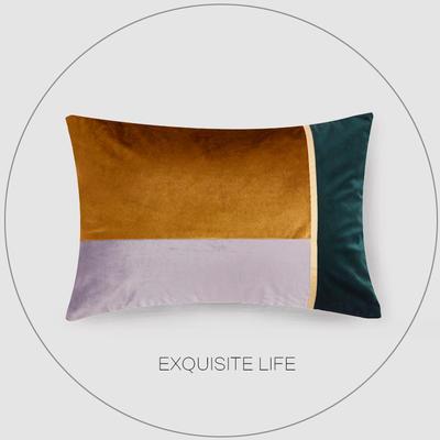 2019新款-轻奢抱枕含芯 长方形35*50/含芯 032#