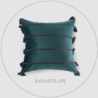 2019新款-轻奢抱枕含芯 正方形45*45cm/含芯 036#