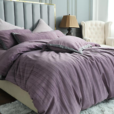 2019新款-金絲絨四件套 床單款1.5m(5英尺)床 魅惑紫