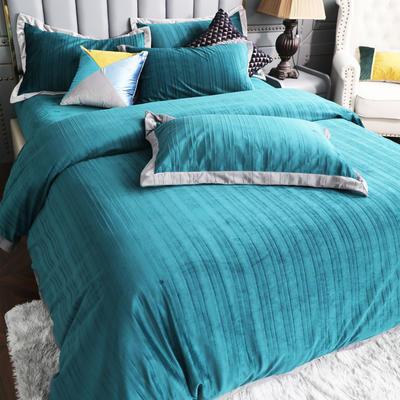 2019新款-金丝绒四件套 床单款1.8m(6英尺)床 松绿