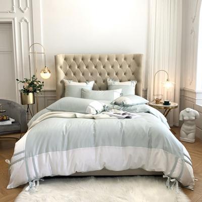 2020新款-60支天丝澜庭四件套 床单款1.8m(6英尺)床 薄荷绿