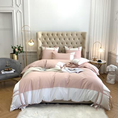 2020新款-60支天丝澜庭四件套 床单款1.8m(6英尺)床 豆沙粉