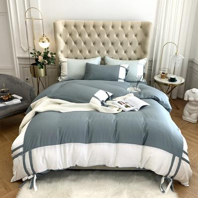 2020新款-60支天丝澜庭四件套 床单款1.8m(6英尺)床 蓝灰