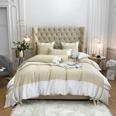 2020新款-60支天丝澜庭四件套 床单款1.8m(6英尺)床 香槟