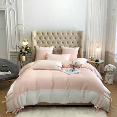 2020新款-60支天絲瀾庭四件套 床單款1.5m(5英尺)床 櫻花粉