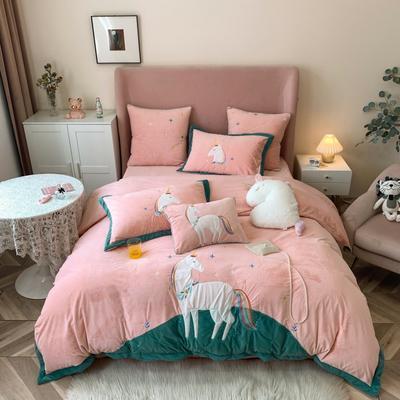 2020新款-工艺类彩虹兔四件套 1.8m床单款四件套 艾玛梦境(婴儿绒 230克)