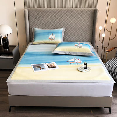 2021新款-800D加厚凉席 1.8*2床单款凉席 海洋时代