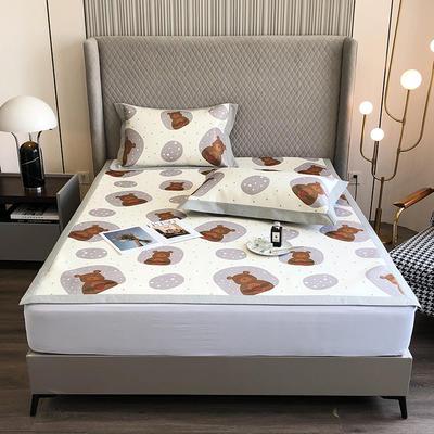 2021新款-800D加厚凉席 1.8*2床单款凉席 熊的乐园