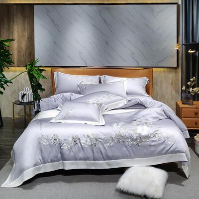 2021新款-60支天丝小清新款式类 1.8m床单款四件套 冷月