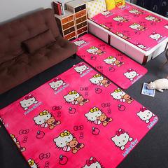 多功能防滑垫云雕绒地垫 80*190 10桃红小猫