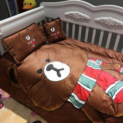 8 超柔婴幼儿套件(被套120*150) 布朗熊围巾