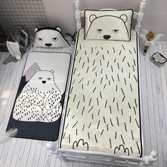 提花冰丝席(小床实拍图) 90 *190CM二件套(1个枕头) 北极熊
