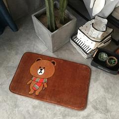 法兰绒地垫爬爬垫-简约风(小地垫) 48*78 围巾熊