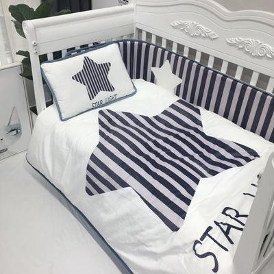 2018新款婴儿幼套件 28*150cm单品床围(需另外买) 白色五角星
