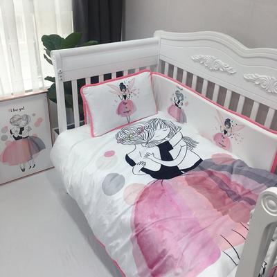 2018新款婴儿幼套件 28*150cm单品床围(需另外买) 芭蕾舞--拥抱