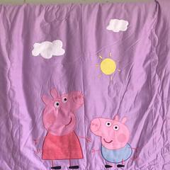 小猪佩奇活套被 1.2x1.5m 紫色