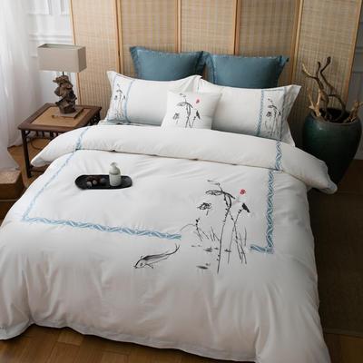 云梦居-60长绒棉四件套 标准1.5m-1.8m床 禅意