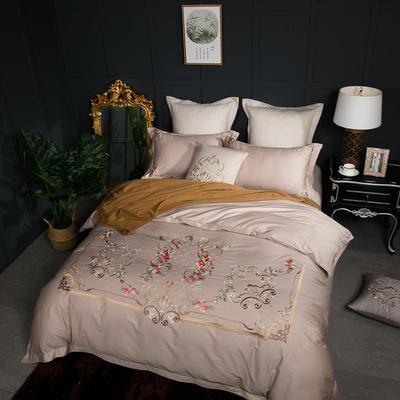 云梦居-60长绒棉四件套 标准1.5m-1.8m床 秘密花园