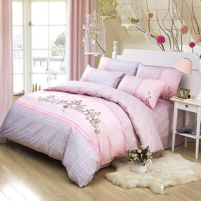 印加绣系列四件套 标准1.5m-1.8m床 粉爱城堡