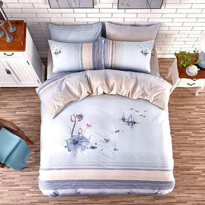 印加绣系列四件套 标准1.5m-1.8m床 荷塘韵色
