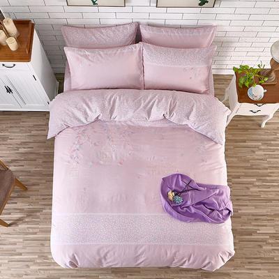 印加绣系列四件套 标准1.5m-1.8m床 叶叶真情-粉