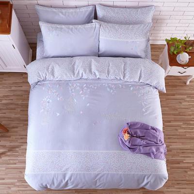 印加绣系列四件套 标准1.5m-1.8m床 叶叶真情-紫