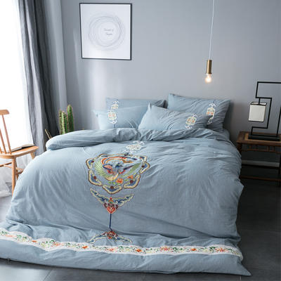 水洗棉四件套 2.0m(6.6英尺)床 凤