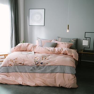 水洗棉四件套 2.0m(6.6英尺)床 鸳鸯-玉