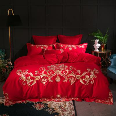 2018新款60S长绒棉四件套(戴安娜) 2.0m(6.6英尺)床 小抱枕/一个