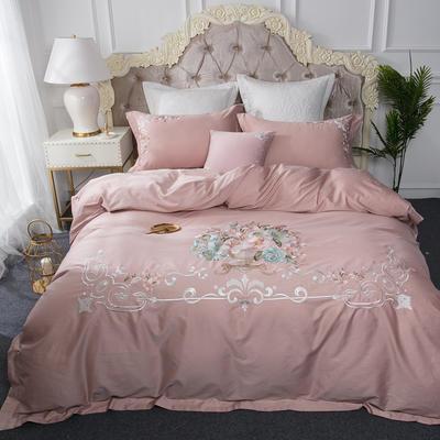 云梦居-60长绒棉四件套 标准1.5m-1.8m床 花团锦簇