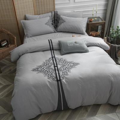 水洗棉新中式四件套 加大2.0m床 似水流年