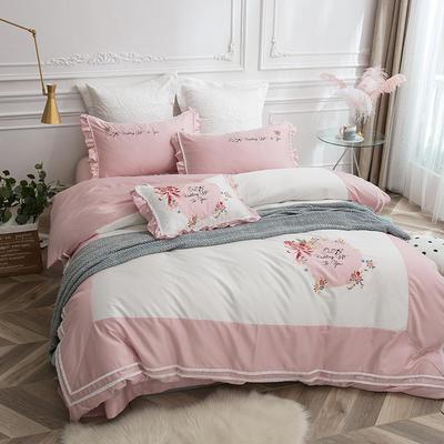 2018新款60长绒棉四件套--(爱丽丝) 2.0m(6.6英尺)床 靠垫/一对(不含芯)
