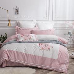 2018新款60长绒棉四件套--(爱丽丝) 1.5m/1.8m床 抱枕/一个(不含芯)