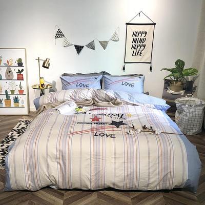 2019新品全棉印加绣系列四件套实拍图 1.2m(4英尺)床 爱的星光