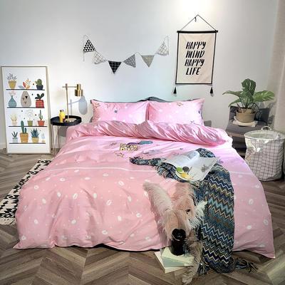 2019新品全棉印加绣系列四件套实拍图 1.2m(4英尺)床 彩虹小马
