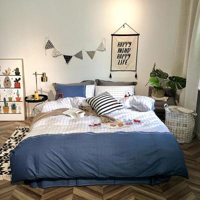 2019新品全棉印加绣系列四件套实拍图 1.2m(4英尺)床 畅游童话
