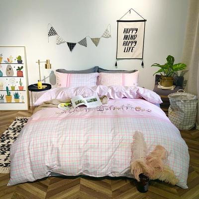 2019新品全棉印加绣系列四件套实拍图 1.2m(4英尺)床 粉爱城堡