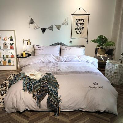 2019新品全棉印加绣系列四件套实拍图 1.2m(4英尺)床 品质生活