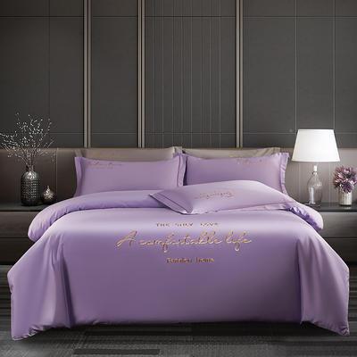 2020新款60長絨棉四件套 1.5m床單款四件套 奢華紫