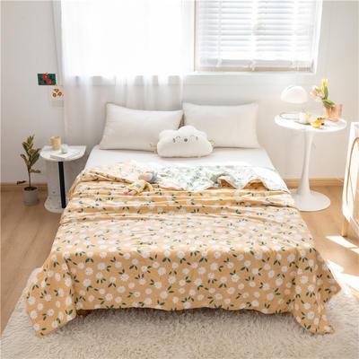 2021新款-13372新疆棉花3D棉夏被 200X230cm 花朵-浅桔红