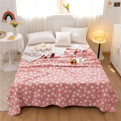 2021新款-13372新疆棉花3D棉夏被 200X230cm 花朵-浅砖红