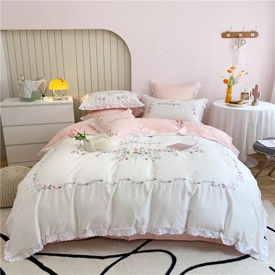 2021新款60支长绒棉四件套系列-莎蔓 1.5m床单款四件套 莎蔓