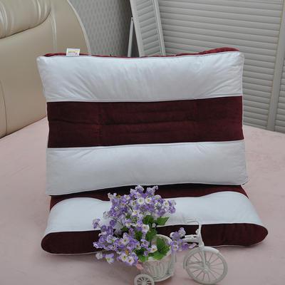 新款灯芯绒决明子保健枕头枕芯单人(48*74cm ) ·酒红色