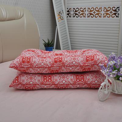 枕芯 磨毛婚庆定型保健枕头枕芯单人(45X72 ) 婚庆定型枕