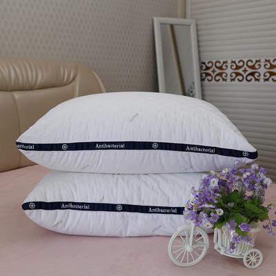 新款枕芯全棉枕头绗绣抗菌防螨羽丝绒枕头枕芯 48X74