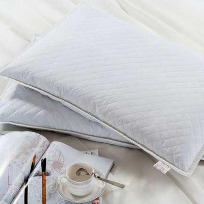 全荞麦枕芯 全棉枕头绗绣纯白全荞麦枕头枕芯 46cm×72cm×9cm