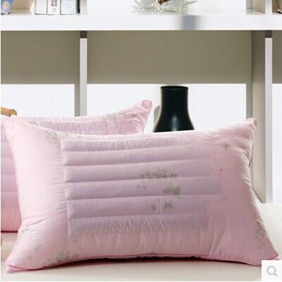 特价枕芯 磨毛粉色荞麦两用枕头枕芯赠品枕礼品枕 ·粉色