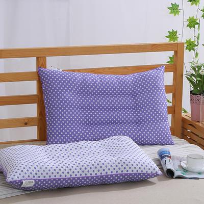 特价枕芯 磨毛波点定型保健枕头枕芯(48x74cm) 紫色