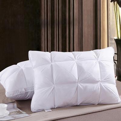 全棉面包酒店羽绒枕头单人枕芯(48*74) 面包羽绒枕